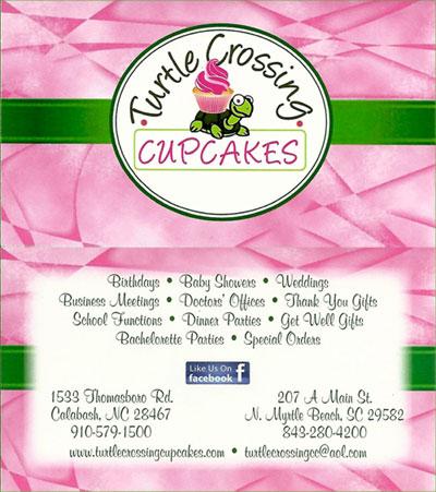 Turtle Crossing Cupcakes - Calabash, NC